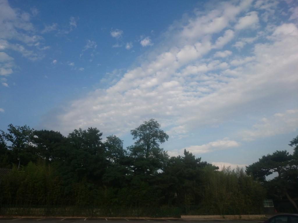 远处的小山,空气确实不错啊,没有雾霾